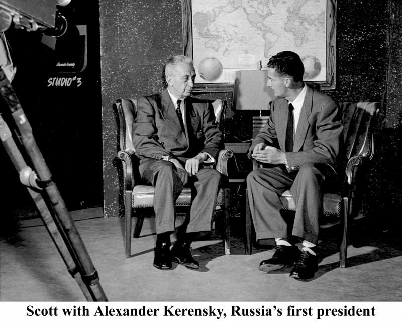 alan with alexander kerensky, russia's first president